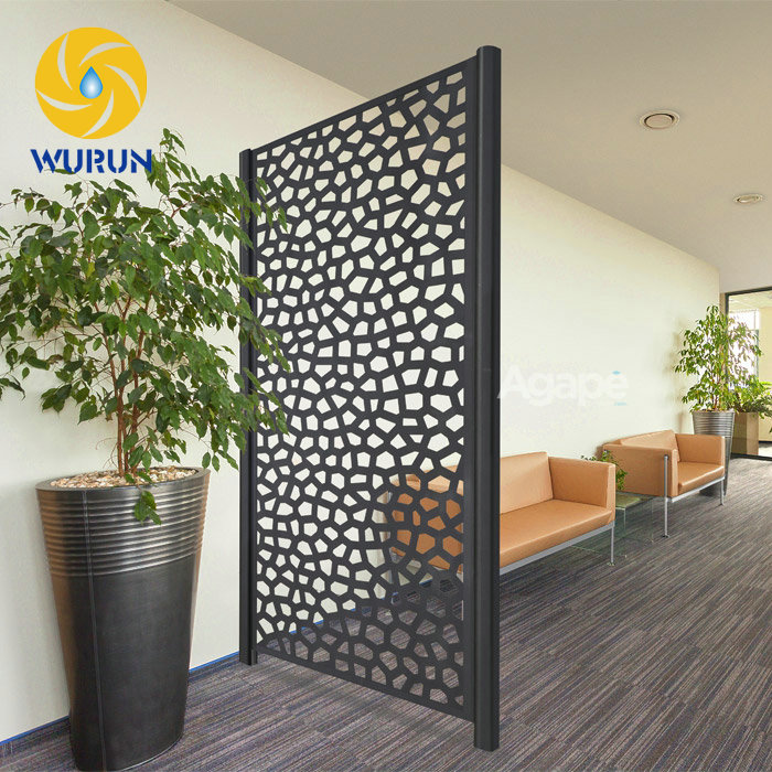 Indoor Decoration Metal Iron Screen Partition Cheap Laser
