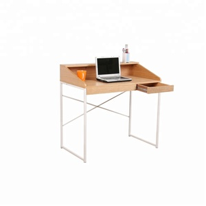 wooden top writing table computer desk with storage