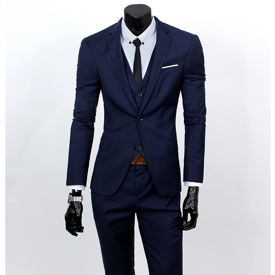 Men S Suits: 2015 New Men Suits One Buckle Brand Suits Jacket Formal