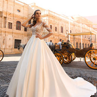 Custom Made Elegant A Line Sweetheart Beach Wedding Dresses Bridal Gowns Lace Appliqued Tulle Tiered Skirts Bride Dress