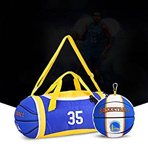 Get Quotations · Adeeing Foldable Duffle Bag 25L Basketball Shape Blue  Travel Bag for Sports Gym Vacation Outdoor f85310d83b