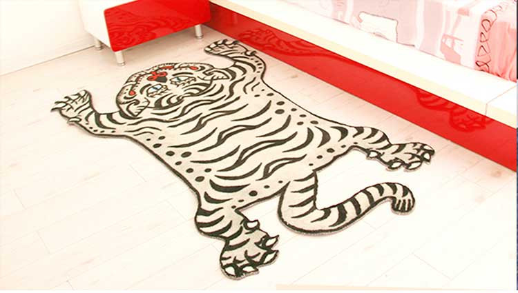 Baby Room Decorate Printed Rug With Animal Shaped Rugs
