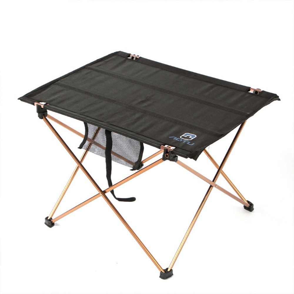 Get Quotations · GOGOOUT Portable Folding Camping Table, Lightweight Fabric  U0026 Alluminum Alloy Sturdy Stable Picnic Table Collapsible