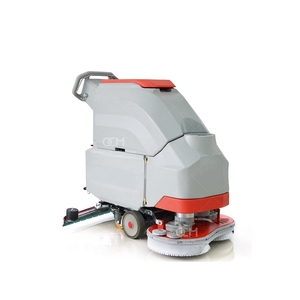 V6 Small Walk Behind Scrubber Concrete Marble Tile Granite Cleaning Machines Electric Battery