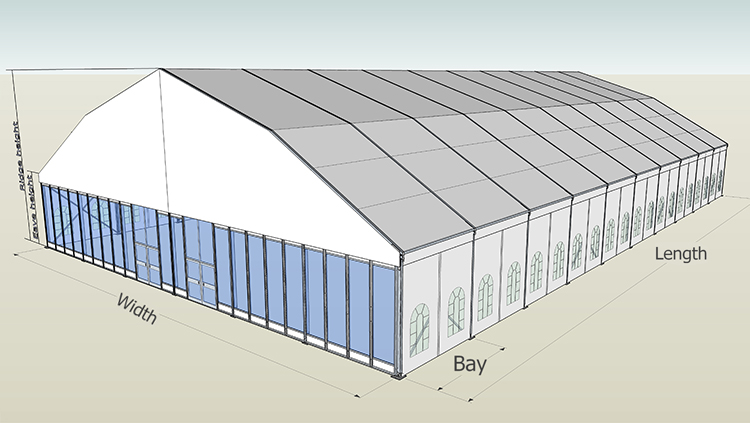 Prefabricated Large Aluminum Frame PVC Warehouse Storage Hall Tent