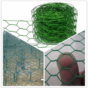 Plastic powder coated Chicken Wire Mesh, Green Pvc Coated Wire ...