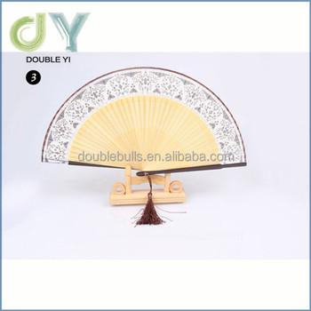 Custom Cheap Silk Hand Fans Bamboo Folding Fan Wedding Favor