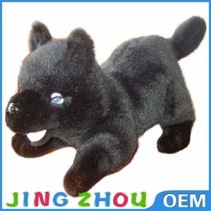 new scary products black wolf plush,plush wolf toy,plush wolf