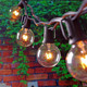 string light 25Ft g40 vintage light bulb christmas light string