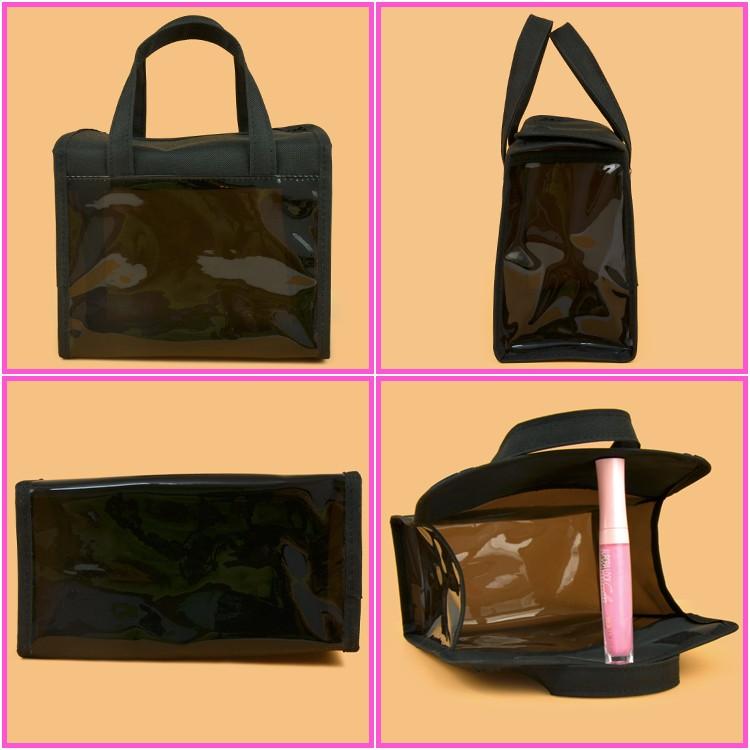 40305b4577b Transparante plastic tas met handgrepen man opknoping reizen make zak clear  vinyl reizen make