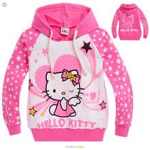 Holčičí růžová mikina Hello Kitty z Aliexpress
