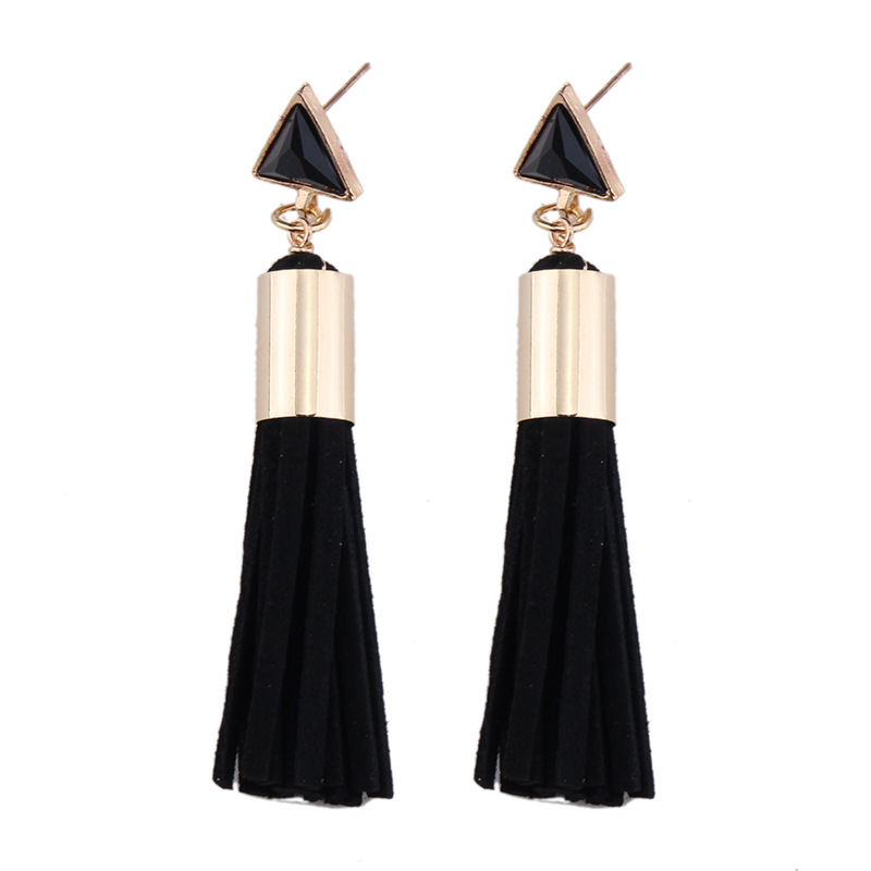 Luxurious pearl teardrop drop earrings,Ladies popular statement leather tassel earrings,pearl earring designs