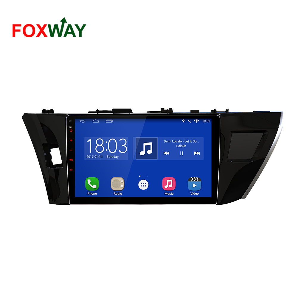 android 2 din car stereo for toyota corolla with high speed wifi bt
