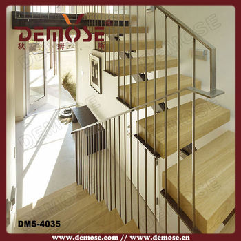 High Quality New Staircase Designs/timber Tread Steel Staircase Details