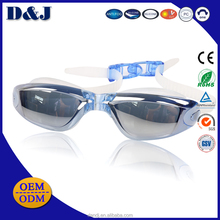 Hot wholesales Anti-Fog Mirror Coated Myopia Silicone swimming goggles
