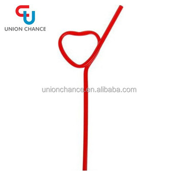 New Design Heart -shaped Straw For Children Plastic Drinking Straw ...