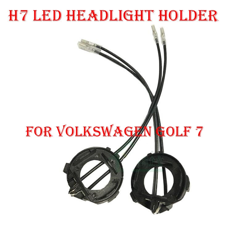 compare prices on led adapter vw online shopping buy low price 2pcs h7 led headlight conversion kit bulb holder adapter base retainer clip socket for volkswagen vw golf 7 hid halogen convert