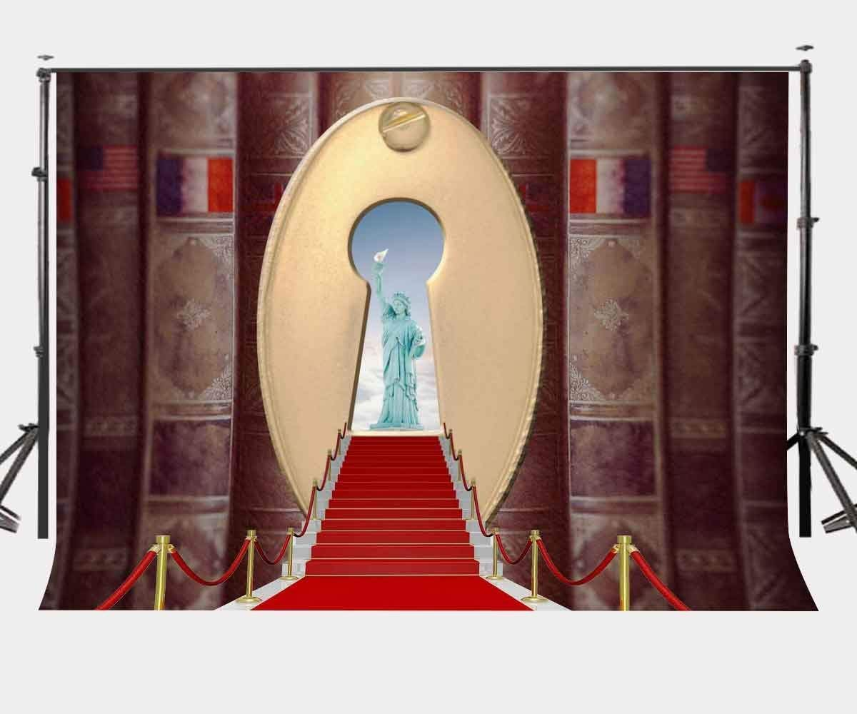 ERTIANANG 150x220cm Red Carpet Backdrop New York The Statue of Liberty Photography Background