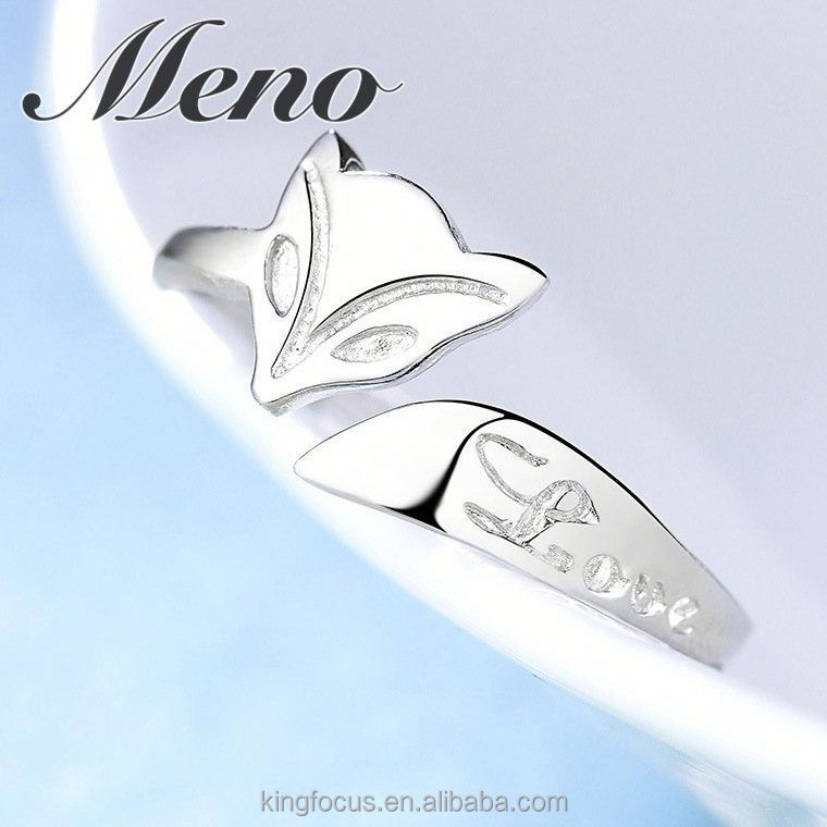 Meno 925 silver opening ring fashion lady gift