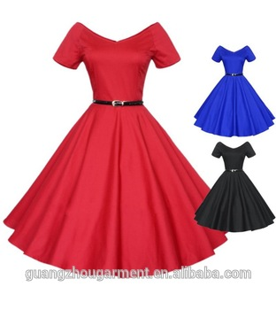 53a11de42a31 plus size 50s Retro Pinup rockabilly Housewife swing dresses by China  clothing manufacturer