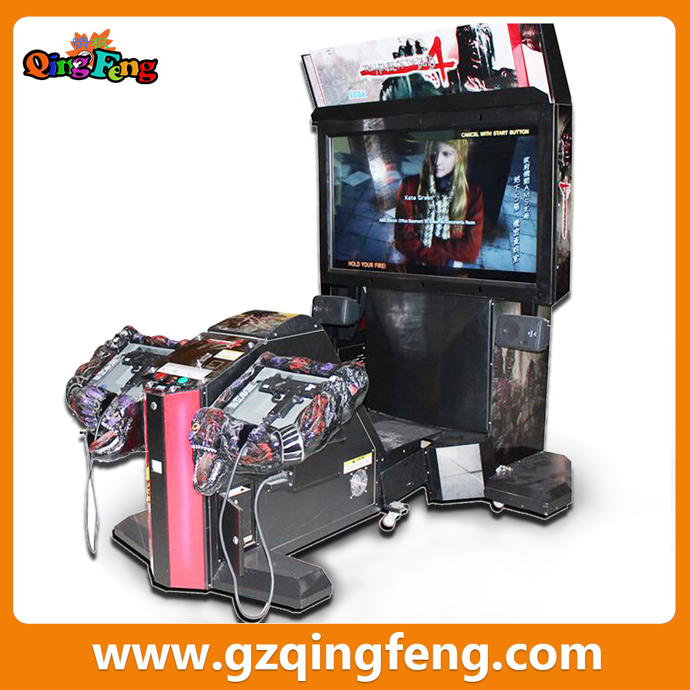 Qingfeng Christmas Promotion Excavator Electric Kid Shooting Games ...