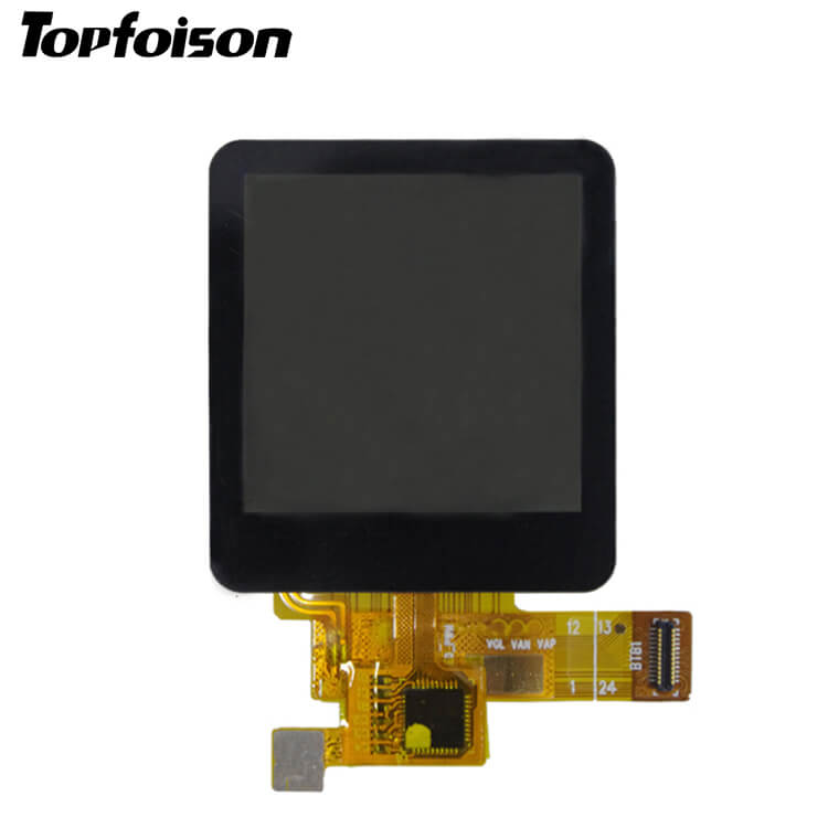 [HOT]Topfoison Manufacturer 1.3inch Round Lcd Display Touch Screen Panel for wearable device