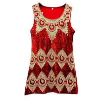 Unique kid hand made dress children sequins baby girls summer dress SG3317#
