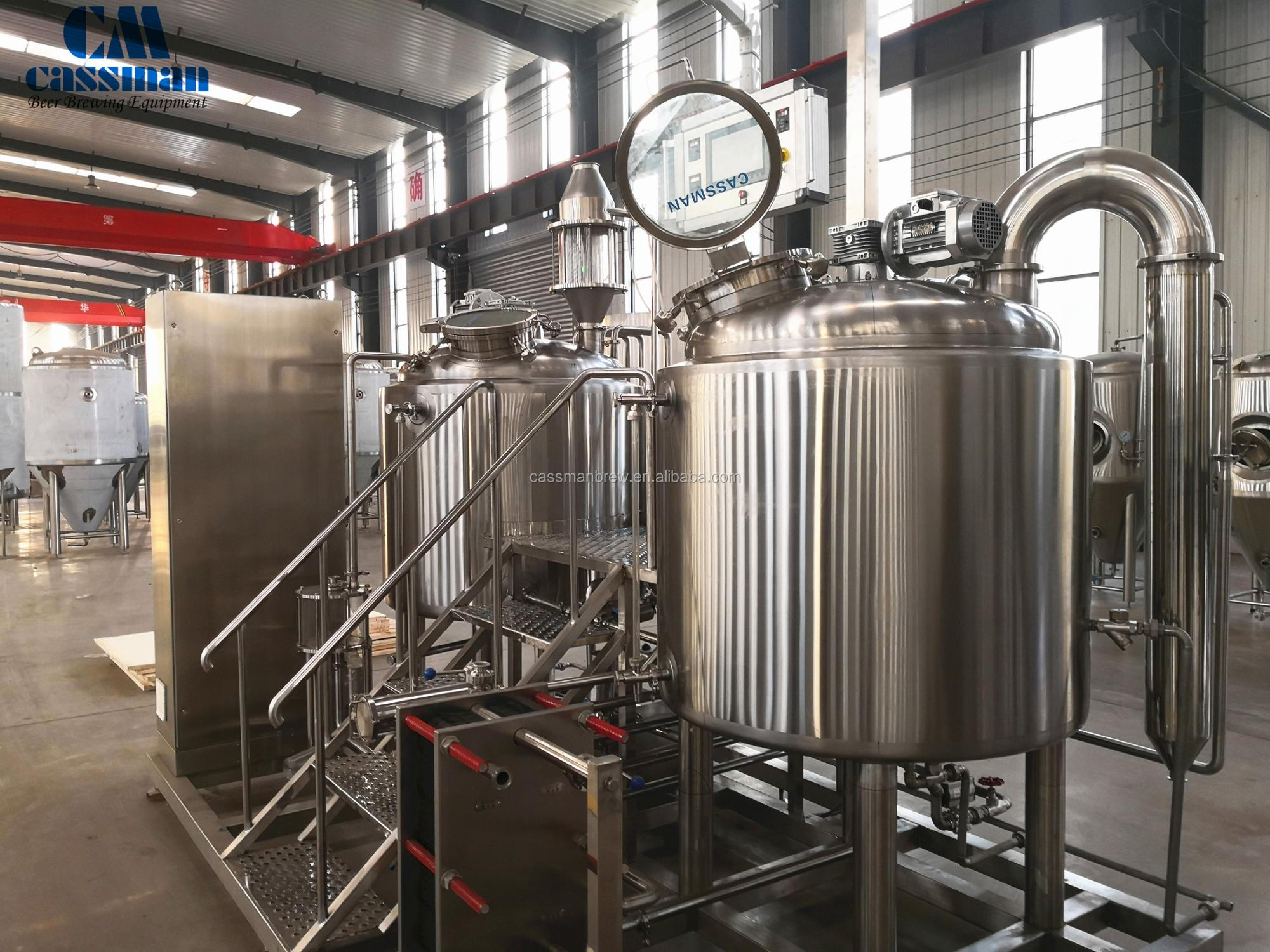 Beer making plant for craft beer brewing supplies
