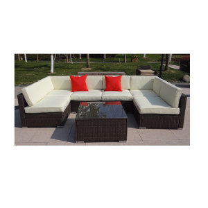 7-Seater KD Outdoor Furniture Garden Steel Set Dining Chairs and Tables Patio Sofa Set
