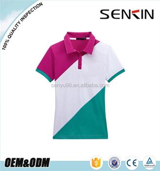 16f54ec33ad0c fashion polo shirt design with combination custom uniform polo shirt  wholesale