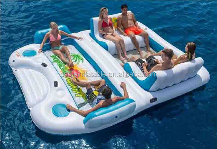 Hot giant 6 persona zattera gonfiabile piscina tahiti for Isola gonfiabile piscina