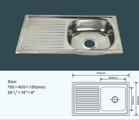 Lavello Cucina 75 Cm.75 40 Cm Vasca Singola Layon Cheapest Cucina Lavello In Acciaio Inox