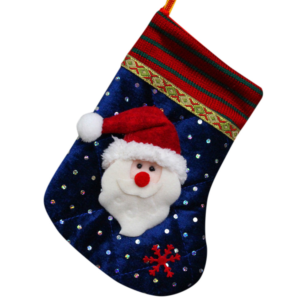 6f82be13c 1PC Regalos de Navidad Cuentas de caramelo Navidad Santa Claus muñeco de  nieve Calcetines Decoraciones
