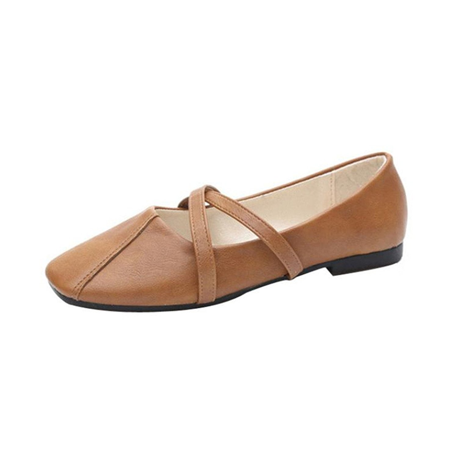 Amiley Hot Sale Women's Ballet Shoe Casual Loafers Moccasin Comfort Flat Sandals Slip-On