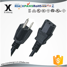 UL approved 3 prong ac power cord cable