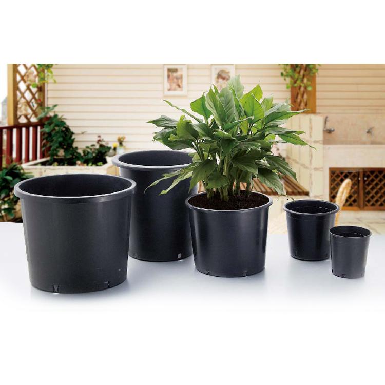 4 6 8 Inch Black Plastic Nursery Square