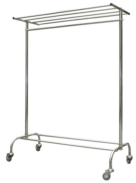 Stainless Steel Clothes Bedsheets Hanger Rack Stand Detachable