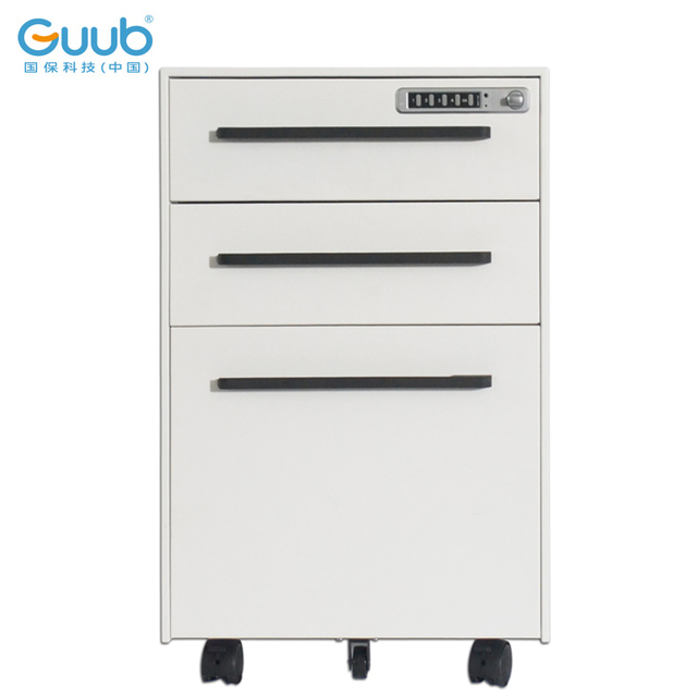 High Quality Movable File Cabinet 3 Drawer Steel Mobile Pedestal