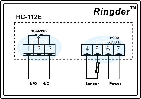 whole ringder rc 112e cool heat on off relay switch universal wiring diagram ringder rc 112e cool heat on off relay switch universal digital temperature controller