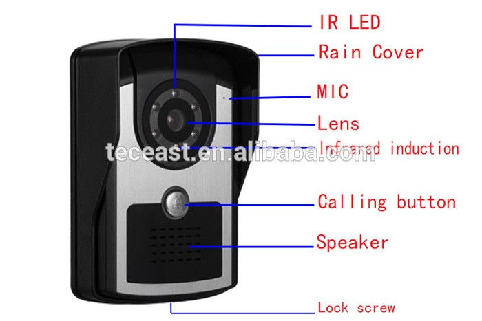 Wifi Door Alarm System Apartment Building Video Door Phone ...