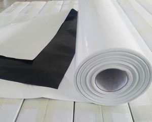 Heavy Duty White and Black LDPE polyethylene / polythene plastic roofing sheet rolls for greenhouse farm