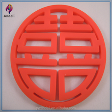 Chinese Double happiness FELT Cup mat, Drink Place mat