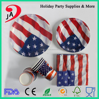Wholesale Party Paper Tableware Set Super Quality Napkin Cup Paper Plate