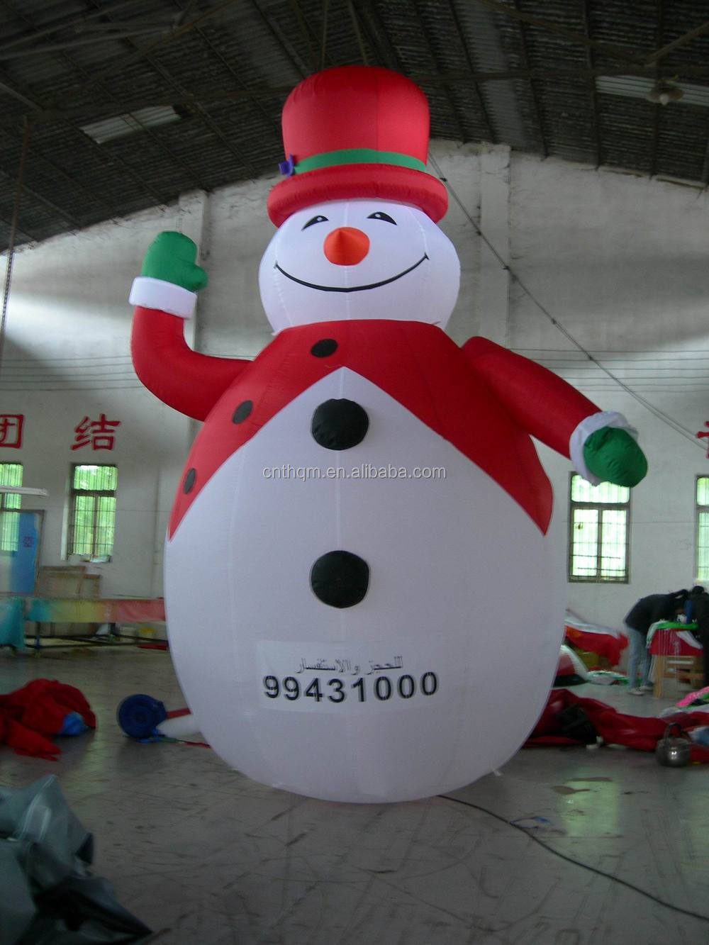 Giant inflatable snowman inflatable father christmas snowman for sale