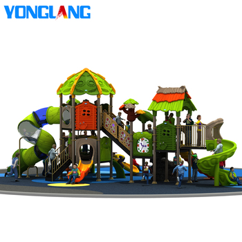 China theme novelty design amusement park equipment special plastic outdoor playground with 5 slides for sale