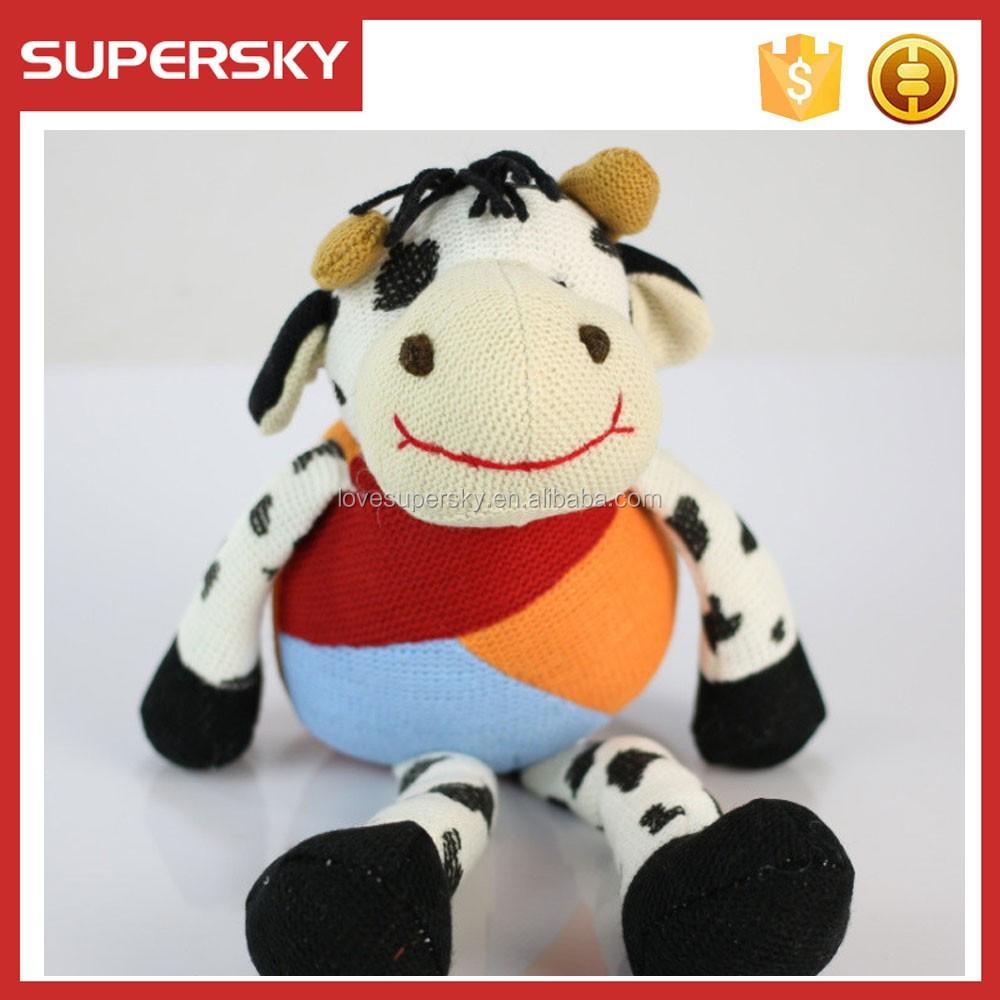 615-2 Ganchillo Vaca Peluche Animales Amigurumi Crochet Patrón De ...