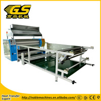 top quality upper garment t-shirt oil heating roller heat transfer printing machine for textile