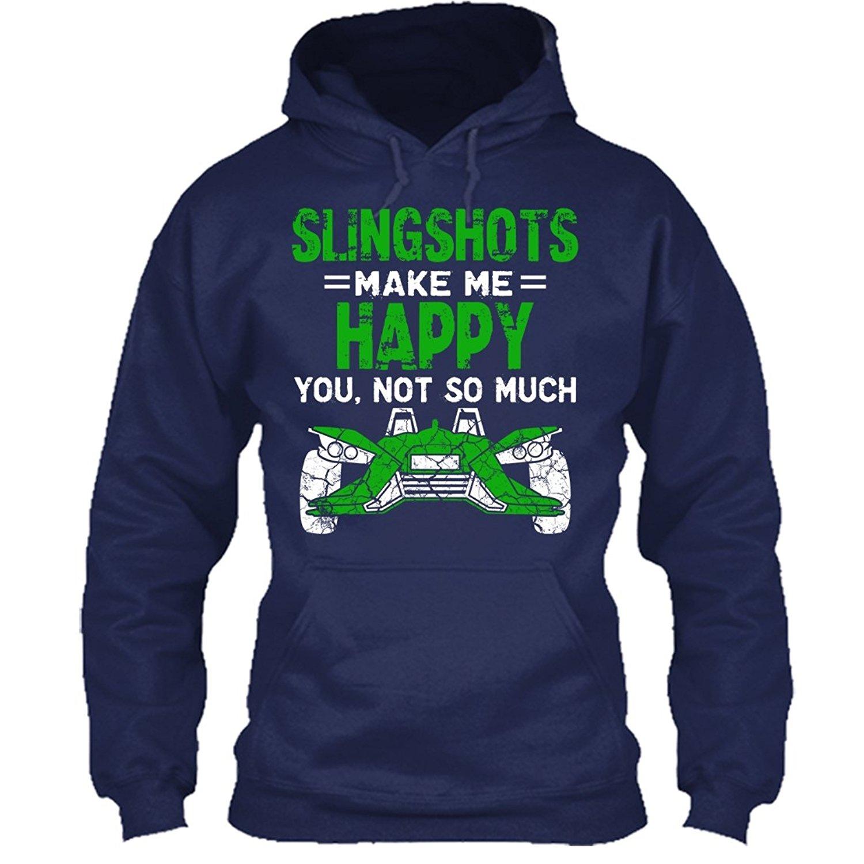 90274d65d91a49 Get Quotations · Slingshots T-Shirt Design - Slingshots Make Me Happy Cool Tee  Shirt Gift For Friends