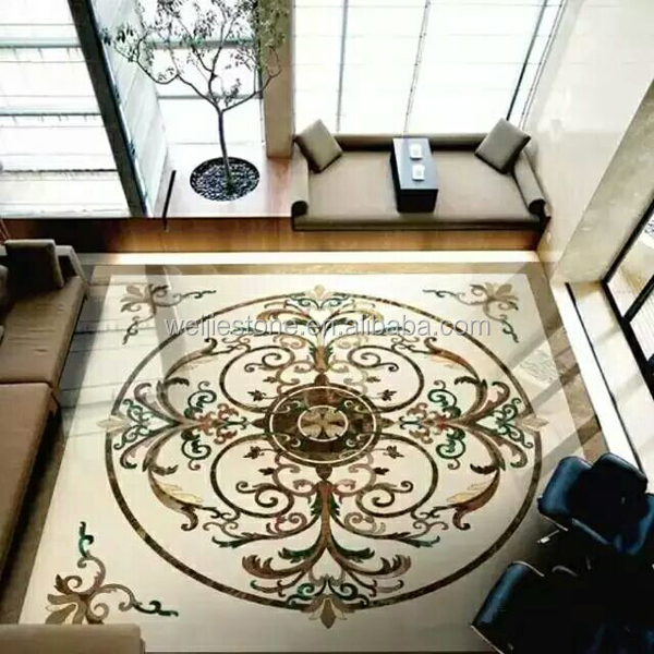 Marble Inlay Flooring Designs : Hot sale waterjet marble inlay flooring design work buy