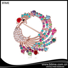 Latest Jewelry Alloy Pin Peacock Korean Brooches
